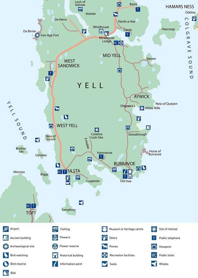 Map of Yell